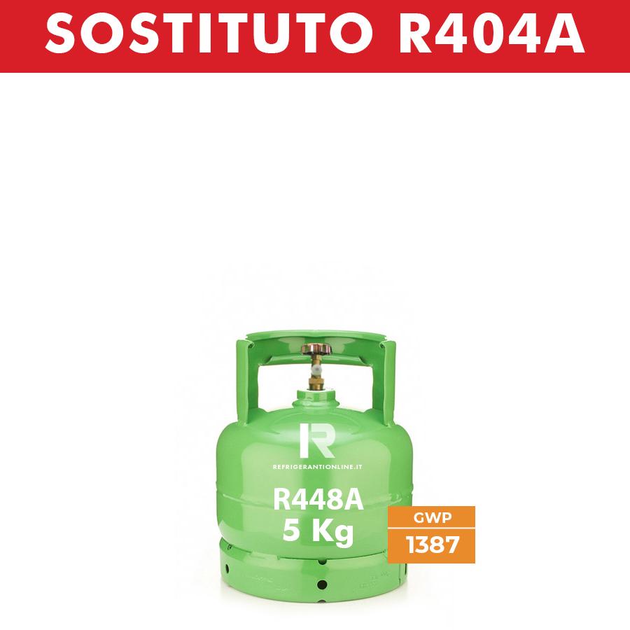 BOMBOLA DI GAS REFRIGERANTE R448A 5KG NETTI RICARICABILE SENZA RESO DEL VUOTO